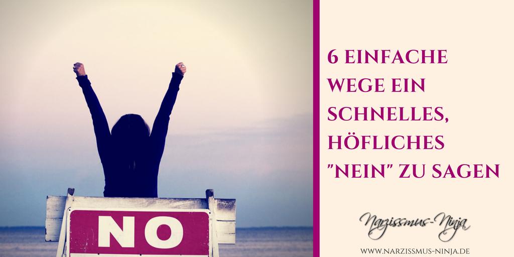 """6 einfache Wege ein schnelles, höfliches """"Nein"""" zu sagen"""